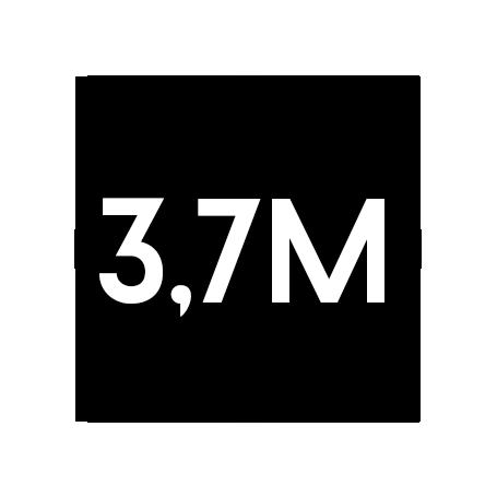 3,7Millionen