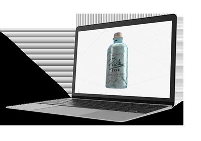 3D Rick Gin Flasche